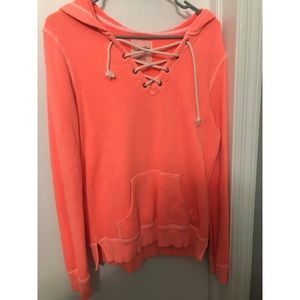 American Eagle Lace Up Sweatshirt